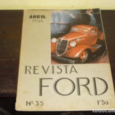 Coches: REVISTA FORD Nº 35 - ABRIL 1935 -. Lote 91834745
