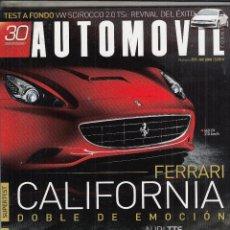 Voitures: REVISTA AUTOMOVIL Nº 371 AÑO 2008. PRUEBA: FERRARI CALIFORNIA. VW SCIROCCO. COMP: AUDI TTS, BMW Z4, . Lote 93250900
