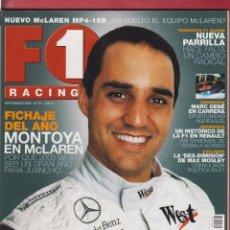 Coches: REVISTA F1 RACING Nº 67, 98 PAGS FICHAJE DEL AÑO MONTOYA EN MC LAREN, MARC GENE EN CARRERA, AÑO 2004. Lote 93330655