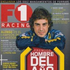 Coches: REVISTA F1 RACING Nº 82, 98 PAGS ALONSO ES EL CAMPEON DE LA AFICION, ADRIAN NEWEY AÑO 2005. Lote 93333945