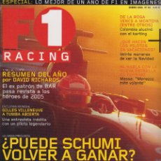 Coches: REVISTA F1 RACING Nº 83, 98 PAGS ¿PUEDE SCHUMI VOLVER A GANAR? DE LA ROSA VENCE A MONTOYA AÑO 2006. Lote 93335320