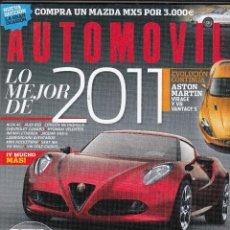 Coches: REVISTA AUTOMOVIL N 399 AÑO 2011,PRU:PORSCHE CAYMAN R.COMP:SEAT IBIZA CUPRA BOCANEGRA,SKODA FABIA RS. Lote 180839983
