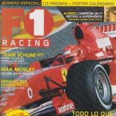 Coches: REVISTA F1 RACING Nº 85,114 PAGS , EL AÑO DE LOS V8, TEAM SCHUMI F1, MAX MOSLEY REDACTOR AÑO 2006. Lote 93337815