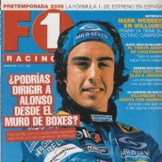 Coches: REVISTA F1 RACING Nº 71,98 PAGS , ¿PODRIAS DIRIGIR A ALONSO ?, ENTREVISTA MARK WEBBER, 2005. Lote 93341510