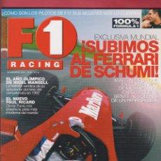 Coches: REVISTA F1 RACING Nº 45,98 PAGS ,EXCLUSIVA !SUBIMOS AL FERRARI DE SCHUMI¡ NIGEL MANSELL AÑO 2002. Lote 93473580