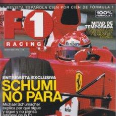 Coches: REVISTA F1 RACING Nº 54,98 PAGS , ENTREVISTA: SCHUMI NO PARA, MITAD DE TEMPORADA PUNTUAMOS..AÑO 2003. Lote 93517490