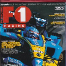 Coches: REVISTA F1 RACING Nº 56,98 PAGS ,ALONSO ILUSIONA, MONTOYA HA PUESTO LA DIRECTA AÑO 2003. Lote 93538825