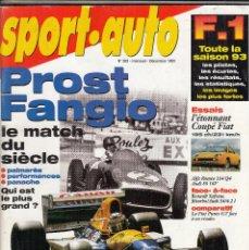 Coches: REVISTA SPORT AUTO FRANCES Nº 383 AÑO 1993. ENSAYO: FIAT COUPE. MATCH: RENAULT SAFRANE BITURBO. Lote 93672060
