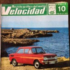 Coches: REVISTA VELOCIDAD N. 412 DE 1969 AUTOMÓVIL BARREIROS DODGE DART. Lote 93740512