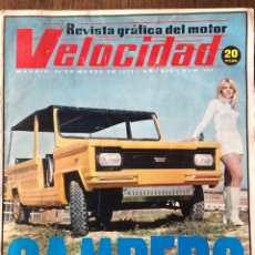 Coches: REVISTA VELOCIDAD N. 602 DE 1973 AUTOMÓVIL SIMCA 1200 CAMPERO AUTOBÚS PEGASO. Lote 93764928