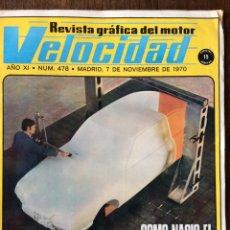 Coches: REVISTA VELOCIDAD N. 478 SEMANA NACIONAL DEL AUTOCAR Y SETRA SEIDA PEGASO. Lote 93840580