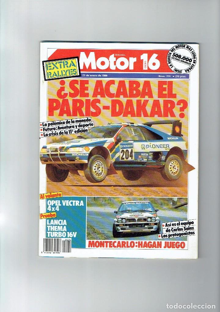 REVISTA MOTOR 16 Nº 274 (Coches y Motocicletas Antiguas y Clásicas - Revistas de Coches)