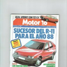 Coches: REVISTA MOTOR 16 Nº 215- BMW 318I/324TD. Lote 94008475