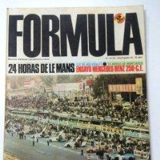 Coches: REVISTA FORMULA NÚMERO 33 34 JULIO AGOSTO 1969 69 24 HORAS MONTJUICH, MERCEDES 250, LE MANS.. Lote 94385958