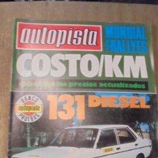 Coches: REVISTA AUTOPISTA NUM 1043 , 1979 , SEÑALES DE USO. Lote 95186635