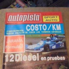 Coches: REVISTA AUTOPISTA NUM 1067 JARAMA FORMULA 3 , 1979 , SEÑALES DE USO. Lote 95187675
