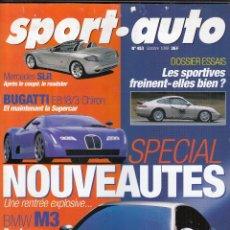 Coches: REVISTA SPORT AUTO FRANCES Nº 453 AÑO 1999. PRUEBA: AUDI S6. MERCEDES S55 AMG. COMP: DONKERVOOT DR . Lote 95343615