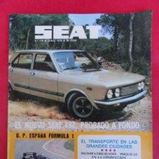 Coches: REVISTA SEAT 78 - Nº 134 - JUNIO 1978.. Lote 95371299