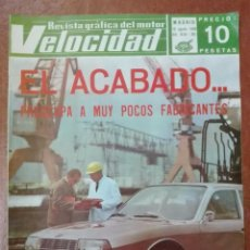 Coches: VELOCIDAD N° 361 AÑO 1968. Lote 95749007