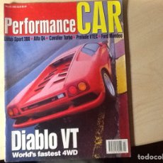 Coches: REVISTA PERFORMANCE CAR MARCH 1993. Lote 96396816