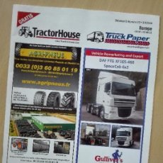 Coches: REVISTA VENTAS 2016 - TRACTOR HOUSE / TRUCK PAPER - 64 PG 100GR - TRACTOR CAMION AUTOMOVIL. Lote 96629299