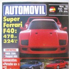 Coches: REVISTA AUTOMOVIL FORMULA Nº 116 - FOTO SUMARIO - PORSCHE 924 S - MAZDA RX-7 - SUZUKI SWITT GTI. Lote 97082475