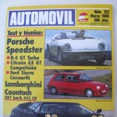 Coches: REVISTA AUTOMOVIL FORMULA Nº 122 - FOTO SUMARIO - RENAULT 5 GT TURBO - AX GT SPORT - SIERRA COSWORTH. Lote 97082843