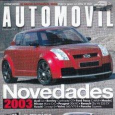 Coches: REVISTA AUTOMOVIL Nº 298 AÑO 2002. DOSSIER: MERCEDES AMG. PRUEBA: MERCEDES SLS55 AMG.. Lote 97114539