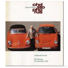 Coches: REVISTA CHRISTOPHORUS SIN NÚMERO, EDICIÓN ESPECIAL 80 CUMPLEAÑOS DEL PATRIARCA PORSCHE, 1989. Lote 97317463
