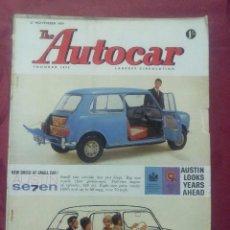 Coches: THE AUTOCAR .- MAGAZINE .- 27 NOVIEMBRE 1959 .- VOL III Nº 3328 .-REPORTAJE R.A.C. RALLY .- SUMBEAN. Lote 97357295