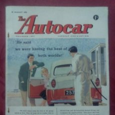 Coches: THE AUTOCAR .- MAGAZINE .- 22 1959 .- VOL 109 Nº 3270 .-REPORTAJE ANGLO-INDIAN TR3 .- BORGWARD. Lote 97359255