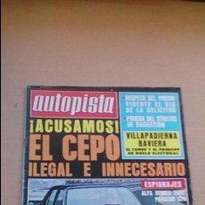 Coches: REVISTA AUTOPISTA N 934 ENERO DE 1977. Lote 97545951