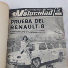 Coches: ANTIGUO LIBRO ENCUADERNADO DE LAS REVISTAS VELOCIDAD AÑO 1966. 21 REVISTAS. DEL NUMERO 225 AL 246.. Lote 97631571