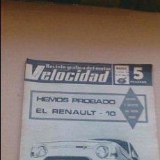 Coches: REVISTA VELOCIDAD N 269 NOVIEMBRE 1966. Lote 97699051