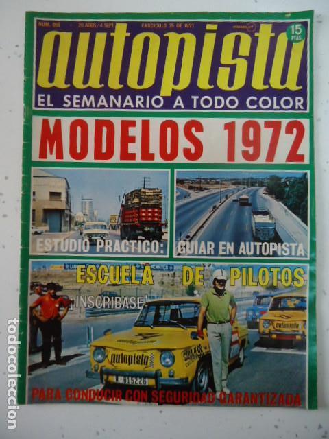REVISTA AUTOPISTA - NUM. 655 - PORTADA RENAULT 8 TS - GAMA COLORES AUTHI (Coches y Motocicletas Antiguas y Clásicas - Revistas de Coches)