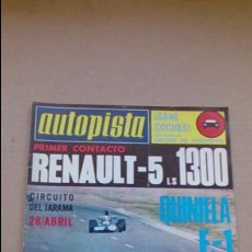 Coches: REVISTA AUTOPISTA N 793 ABRIL1974. Lote 98054175