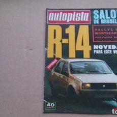 Coches: REVISTA AUTOPISTA N 883 ENERO 1976. Lote 98068463