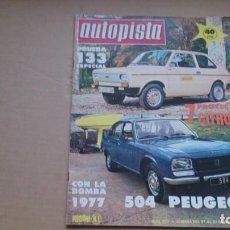 Coches: REVISTA AUTOPISTA N 927 NOVIEMBRE 1976. Lote 98487519