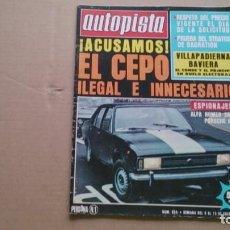 Coches: REVISTA AUTOPISTA N 934 ENERO 1977. Lote 98529239