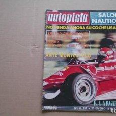 Coches: REVISTA AUTOPISTA N 935 ENERO 1977. Lote 98529343