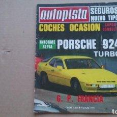 Coches: REVISTA AUTOPISTA N 1011JULIO 1978. Lote 98635255