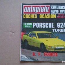 Coches: REVISTA AUTOPISTA N 1011JULIO 1978. Lote 98635327
