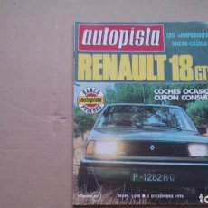 Coches: REVISTA AUTOPISTA N 1030 DICIEMBRE 1978. Lote 98667151