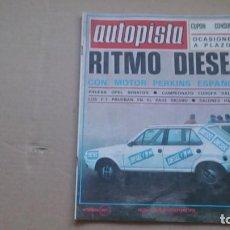 Coches: REVISTA AUTOPISTA N 1033 DICIEMBRE 1978. Lote 98667803