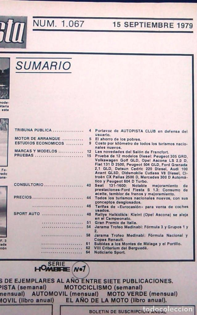 Coches: Revista Autopista nº 1067. - Foto 2 - 98669823