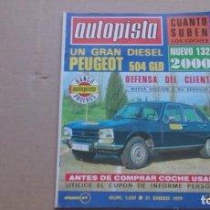 Coches: REVISTA AUTOPISTA N 1037 ENERO 1979. Lote 98675451