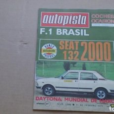 Coches: REVISTA AUTOPISTA N 1040 FEBRERO 1979. Lote 98676211