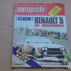 Coches: REVISTA AUTOPISTA N 1059 JUNIO 1979. Lote 98688719