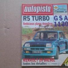 REVISTA AUTOPISTA N 1080 DICIEMBRE 1979