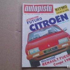 REVISTA AUTOPISTA N 1081 DICIEMBRE 1979